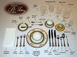 Table Setting Chart Fit For A Queen  U0026 Your Holiday Dinner
