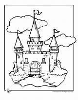 Castle Coloring Fairy Tale sketch template