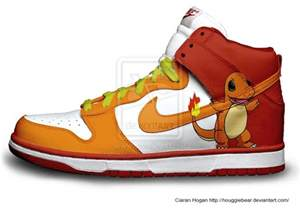 designer nike shoes nike sb dunk shoes nike dunks shoe charmander character custom nikes 4 packs