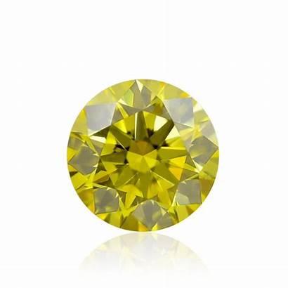 Yellow Fancy Vivid Round Diamonds Diamond Vs2