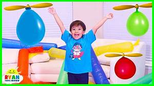 Helicopter Balloon Race with Ryan ToysReview! - YouTube