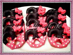 chocolate covered pretzels favors birthday ideas minnie mouse archives decorating of