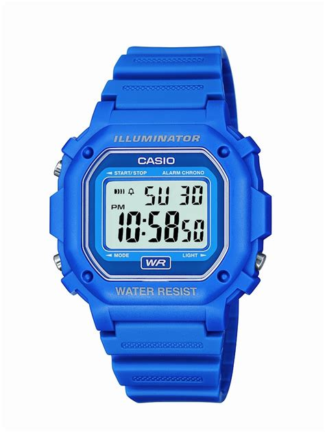casio fwh water resistant digital blue resin strap