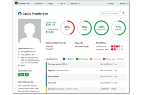 Customer Service Profile by Canopy Labs Personalize Your Marketing Integration