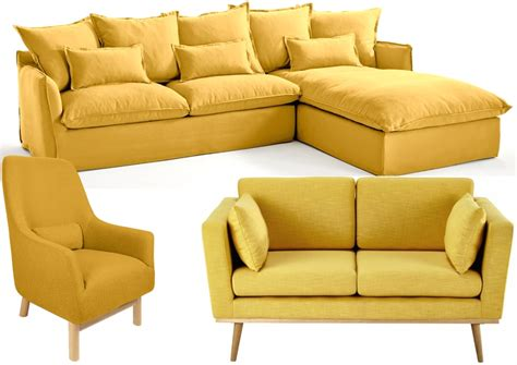 canape et fauteuil 20 fauteuils et canapés jaunes pour le salon joli place