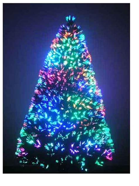 3 ft artificial tree trees fiber optic color and white led lights ebay