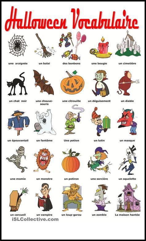 Halloween Vocabulaire  Gratuit Fle Worksheets  Language Arts Ideas  Pinterest Vocabulaire
