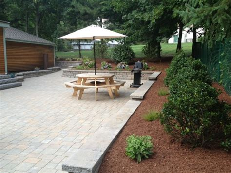 vintage paver patio traditional patio boston by