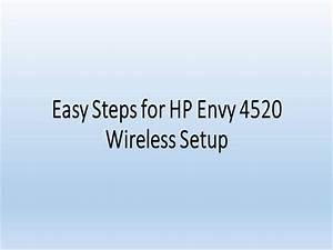 Easy Steps For Hp Envy 4520 Wireless Setup