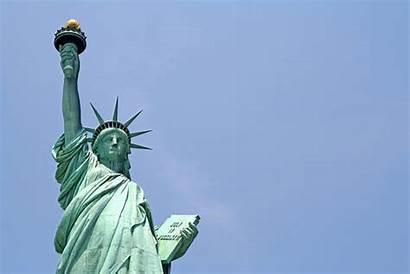 Liberty Statue Close Lady York Law Non