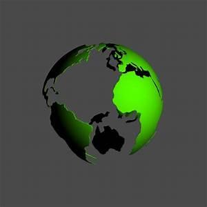 world globe - 3d model - .3ds, .obj, .max