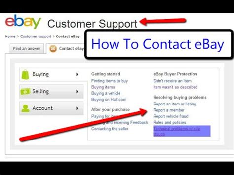 ebay contact phone ebay tutorial how to contact ebay selling on ebay for