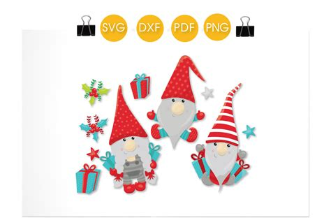If you like the file click here to make a donation even $1 sublimation designs perfect for shirts, mugs, pillows, and other. Present Christmas Gnomes cutting files svg, dxf, pdf, eps ...