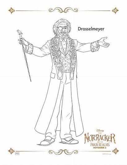 Nutcracker Coloring Realms Drosselmeyer Cascanueces Four Disney