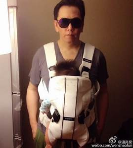 Deric Wan Carries Daughter On His Chest | JayneStars.com