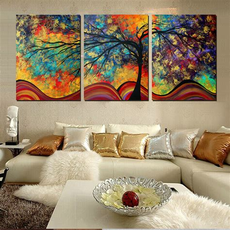 large wall home decor abstract tree painting colorful landscape paintings canvas picture for