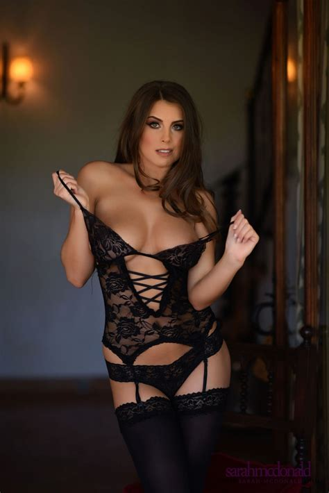 Sarah McDonald Black Top and Stockings