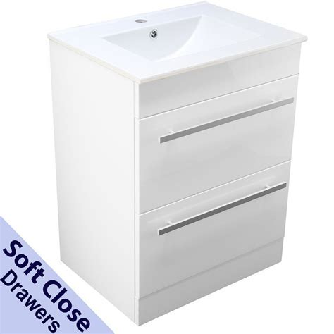 BATHROOM VANITY CABINET BASIN SINK 600MM SQUARE FLOOR