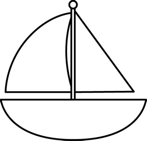Sailboat Outline Template by Sailboat Template For Kids Clipart Best