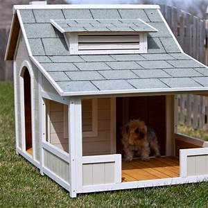 precision outback savannah dog house with porch With dog house with deck
