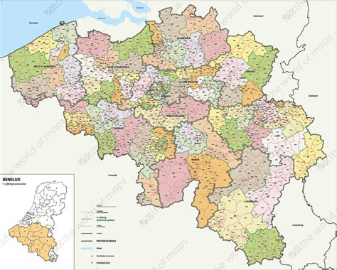 digital postcode map belgium   digits   world