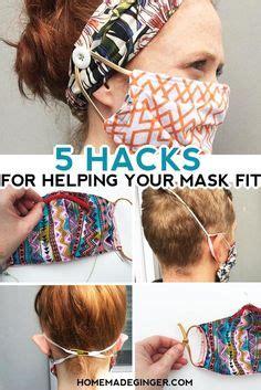 sew  face mask  elastic  ties homemade