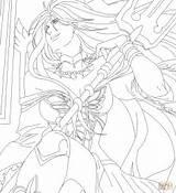 Coloring Seiya Saint Pages Pandora Manga Drawing Printable Puzzle Paper sketch template