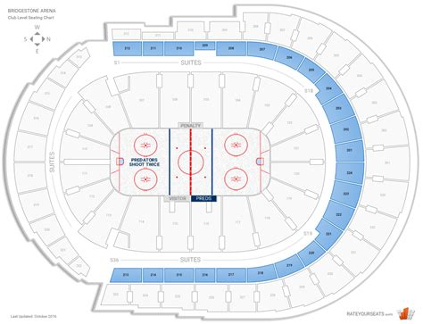Club And Premium Seating At Bridgestone Arena