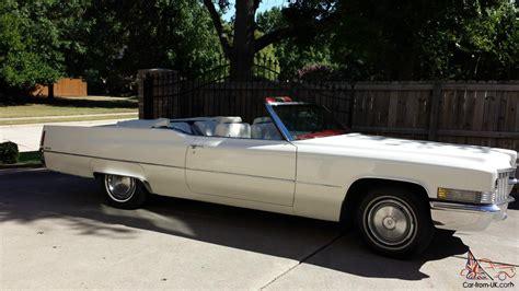 cadillac deville convertible triple white