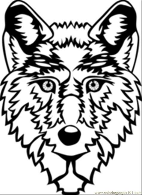 wolf head coloring page  wolf coloring pages