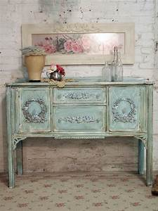 Shabby Chic Dresser : painted cottage chic shabby aqua romantic buffet server sv294 ~ Sanjose-hotels-ca.com Haus und Dekorationen