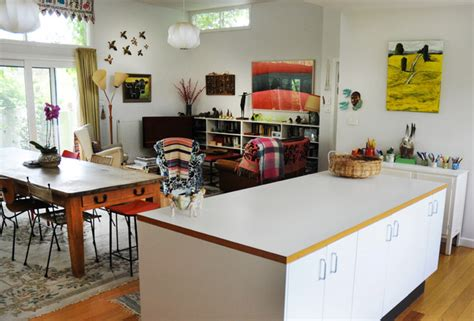 contemporary style kitchens eclectic wonderment in an iconic 1950 s canberra home 2548
