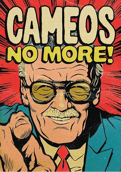 Stan Lee Marvel Superheroes Illustrated Cameos