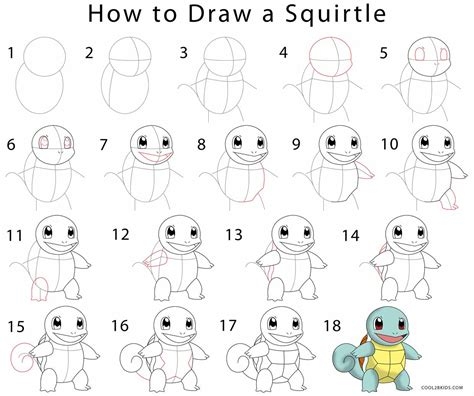 How To Draw Squirtle (step By Step Pictures) Cool2bkids
