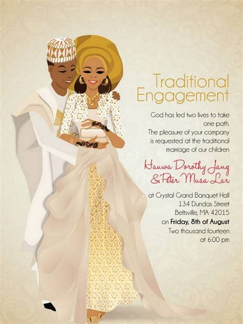 african wedding invitations designed perfectly
