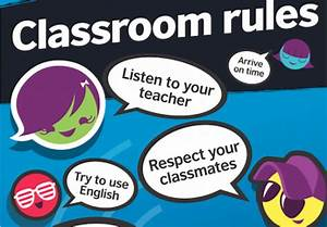Teens classroom rules posters - Vibrant Blue