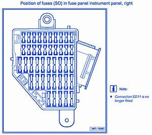 Volkswagen Passat 2007 Fuse Box  Block Circuit Breaker Diagram  U00bb Carfusebox