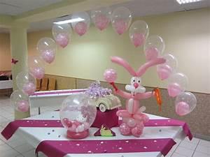Decoration Pour Bapteme Fille : deco bapteme ballon ~ Mglfilm.com Idées de Décoration