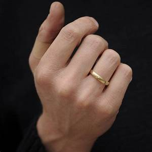 mans gold wedding band by william white With mans wedding ring