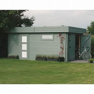 Garage Voiture En Bois : garage toit plat en bois massif 19 26m avec madriers 40mm solid ~ Dallasstarsshop.com Idées de Décoration