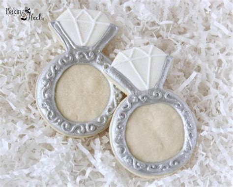 diamond ring decorated cookies wedding cookies ring cookies