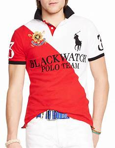 Polo ralph lauren Black Watch Custom-Fit Two-Toned Polo ...