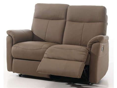 canap 233 relaxation 2 places jens coloris taupe conforama