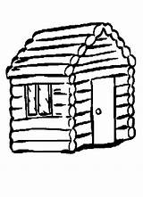 Cabin Outline Clipart Drawings Clip Webstockreview sketch template