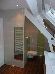 1000 images about salle de bains sous combles on With chambre avec douche italienne