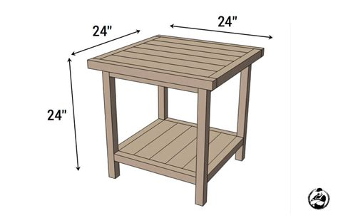 free simple end table plans simple square side table free diy plans rogue engineer