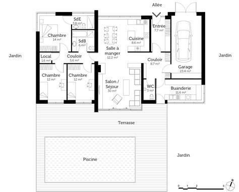 maison plain pied 5 chambres bien plan de maison plain pied 5 chambres 1 plan maison