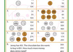 1st grade money worksheets free printables education