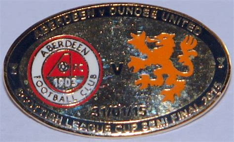 Aberdeen v Dundee united game badge Scottish league cup ...