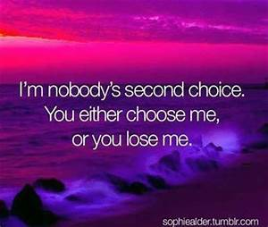 Im Nobodys Second Choice Pictures, Photos, and Images for ...